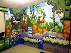 Yoshi's Island Wall Decoration #Mario #Nintendo #snes
