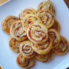 Reuben Pinwheels - Sauerkraut, Swiss Cheese and Corned Beef rolled in buttery Puff Pastry.