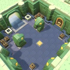 Zelda -esque Snake Temple A retro, dungeon construction set for top down adventure fun! This set of easy to use geometric toon-style dungeon level building blocks can be used to rapidly build exciting levels. Minecraft Castle Blueprints, Minecraft Houses, Minecraft Bedroom, Minecraft Cake, Minecraft Memes, Minecraft Crafts, Minecraft Furniture, Minecraft Skins, Game Environment