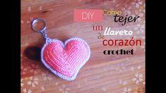DIY llavero de CORAZON a CROCHET (diestro)