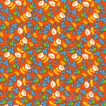 Heather Ross Briar Rose Calico Orange [WF-37027-3] - $6.95 : Pink Chalk Fabrics is your online source for modern quilting cottons and sewing patterns., Cloth, Pattern + Tool for Modern Sewists