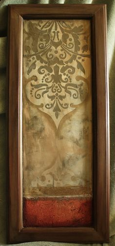 Great Use Of A Recycled Cabinet Door, Love The Textures Old Cabinet Doors,  Wall