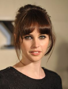 Felicity Jones... I think she may have the perfect hair color.