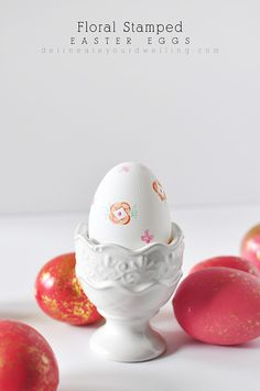 Floral Stamped Easter Eggs...how to...