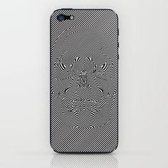 Moiré Skull iPhone & iPod Skin,   iphone 5 case
