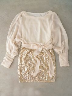 Sparkling Darling Dress in Ivory