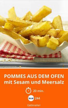 Pommes aus dem Ofen - mit Sesam und Meersalz - smarter - Kalorien: 244 Kcal - Zeit: 20 Min. | eatsmarter.de
