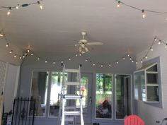 Hung some awesome string lights on patio.