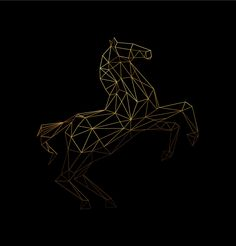 Geometric horse. on Behance
