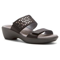 Complete your warm-weather wardrobe with the Naot Moreto sandal. This mid-heel women's demi-wedge sandal is made from premium leather with eye-catching underlays and hook-and-loop closures for an optimal fit. The removable, cork and natural latex cushioned insole manages moisture and encourages correct posture. Anatomical contouring, arch support, a metal shank and deep heel indentation help maintain balance and protect the heel bone atop the durable polyurethane sole.