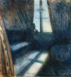 "E. Munch, ""Night in S. Cloud"", 1893."