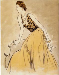 By Carl Erickson (1891-1958) was an American fashion and advertising illustrator from the 1910s through to the 1940s.