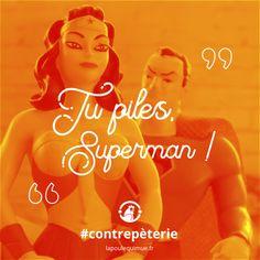 🐔 Tu piles, Superman ! #contrepèterie #lapoulequimue #superman #panne #kryptonite #caarrive Superman, Panne, Movie Posters, Movies, Films, Film Poster, Cinema, Movie, Film
