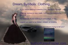 Common dream symbols; what your clothing means. #dreaminterpretation #dreamsymbols