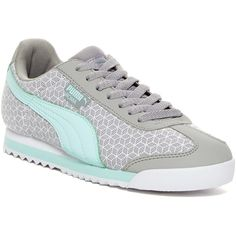 PUMA Roma 3D Print Sneaker ($40) ❤ liked on Polyvore featuring shoes, sneakers, puma sneakers, puma shoes, round toe sneakers, laced shoes and round cap