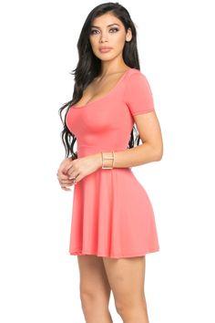 Micro Suede Coral Mini Dress