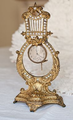 Antique French Jeweled Watch Holder