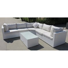 The Palermo Modular Corner Sofa Set is a gorgeous 6-piece all-weather sofa set. Ideal for the summer garden, patio or conservatory. It includes 6 units so the layouts can be easily changed.