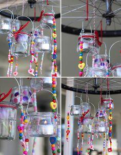 Shiny – Tealight // Inspiration für die eigene Frühlingsdeko: http://www.marein.ch/basteln/5240/shiny-tealight/