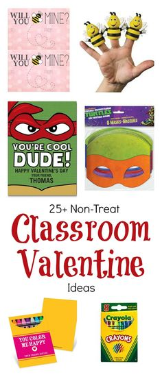 25+ Classroom Valentine's Cards and Non-Candy Pairing Ideas