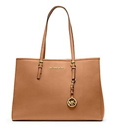 Jet Set Travel Saffiano Leather Tote by Michael Kors