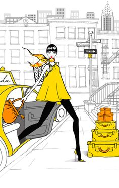 ~Megan Hess Illustration - Arriving To New York Fashion Week | House of Beccaria