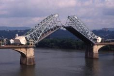The 100 year old Market St. Bridge in Chattanooga, TN