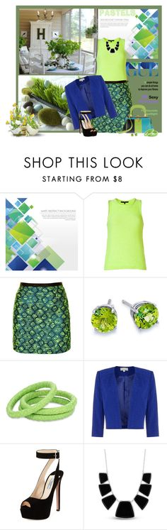 """""""GREEN IS GREEN"""" by sherry7411 on Polyvore featuring TIBI, Sister Jane, Roberta Di Camerino, Blue Nile, Ted Rossi, Prada, Karen Kane and greenday"""