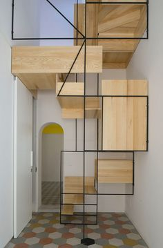 These days, a concrete staircase is really famous for a modern house. The design of staircase with its concrete material is simple and easy to make. It is another option for you who want to design you Contemporary Stairs, Modern Staircase, Staircase Design, Spiral Staircase, Staircase Ideas, Stair Design, Floating Staircase, Interior Stairs, Interior Architecture