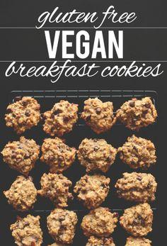 Gluten Free Vegan Breakfast Cookies.