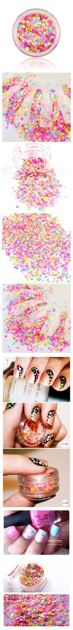 $0.99 1mm-2mm Mixed Nail Art Glitter Decoration Colorful Mini Round Thin Paillette Design - BornPrettyStore.com