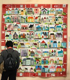 Tokyo Quilt Festival - house quilt..the houses seem to be proportional, how did that happen?