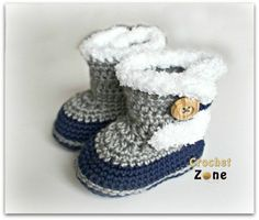 FREE PATTERN...Fuzzy Booties by Crochet Zone