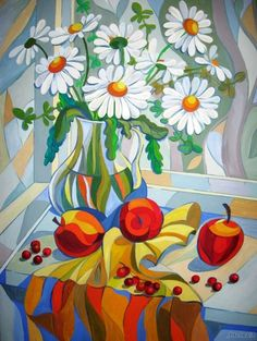 Art Floral, Geometric Painting, Communication Art, Acrylic Painting Techniques, Guache, Primitive Folk Art, Summer Art, Teaching Art, Mosaic Art