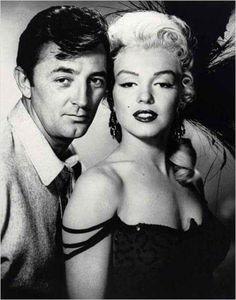 Robert Mitchum et Marilyn
