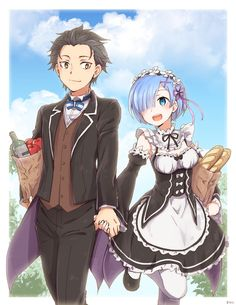 Anime picture re:zero kara hajimeru isekai seikatsu rem (re:zero) natsuki subaru banchii tall image short hair 515595 en Subaru, Manga Anime, Otaku Anime, Zero Wallpaper, Chibi, Ram And Rem, Re Zero Rem, Best Waifu, Animes Wallpapers
