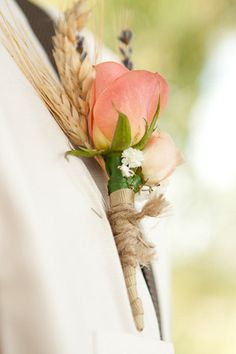 Wheat boutonniere - Caistorville, Ontario Wedding from Carolyn Bentum Photography