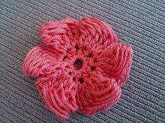 uncinetto - come realizzare un fiore
