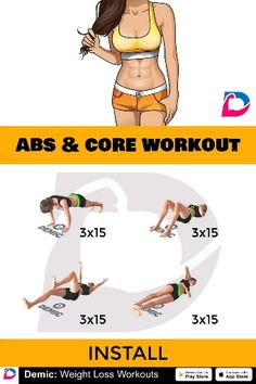 Abs and Core Workout - Body Workout 2020 Pilates Workout, Fitness Workouts, 6 Pack Abs Workout, Ab Core Workout, Abs Workout For Women, Easy Workouts, At Home Workouts, Core Workouts, Workout Challenge