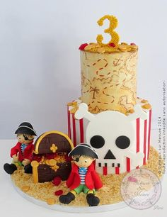 Pirate Cake.......so cute! Definitely in the running for Arian's 1st Birthday!!!!