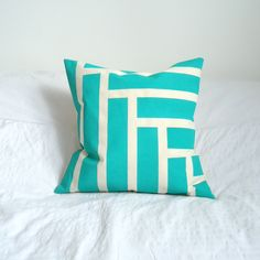 Taped and painted cushion covers by ChichiDee Handmade