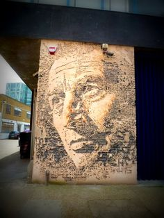 Vhils dans Shoreditch – Londres - www.street-art-avenue.com