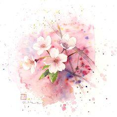 日本水彩 花