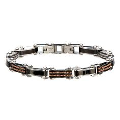 The DOUBLE TROUBLE is a two-in-one thin width mens bracelet. A modern style with shining rose gold gear links or a classic black stripe - the choice is yours. Mens Gold Bracelets, Beaded Bracelets, Leather Bracelets, Stainless Steel Jewelry, Leather Cuffs, Rose Gold, Double Trouble, Accessories, Black