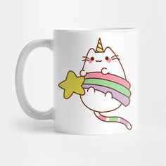 Caticorn Holding a Star