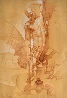 johndeeposts:  Designo Sanguigna(Drawing Blood) by Roberto Ferri - 2011