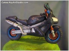 Kawasaki Motorcycle/Motorbike Cake | Flickr - Photo Sharing!