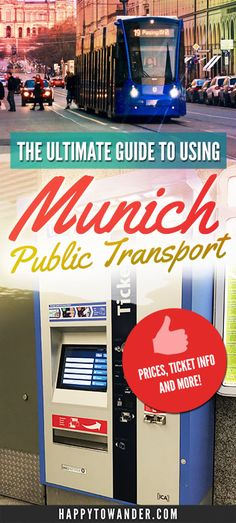 The most thorough guide out there for using Munich's public transport system. #Germany #Munich #PublicTransport #Travel