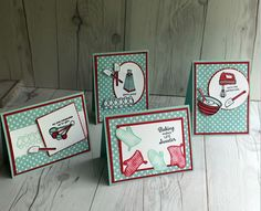 Stampin' Up! Perfect Mix collection of hand made cards