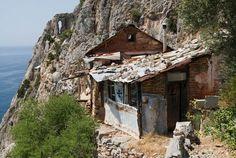 Ermita a l'eremitori de Karoulia, a l'extrem del Mont Athos